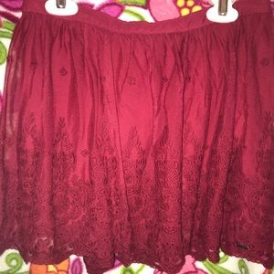 Red Lace Hollister skirt (s)